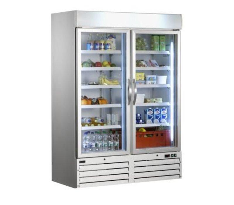Saro Koelkast glazendeur - 920 liter - 137x72x(h)199