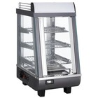 Saro Warming Vitrine RVS - 3 Roosters - 1 Slide Square - LED Lighting - 345x484x (h) 663mm