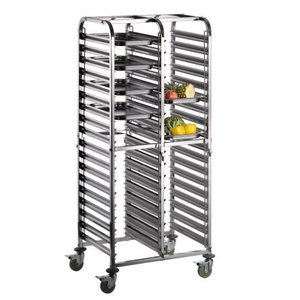 Saro Regal Wagen für Tabletts 600 x 36 x 400 mm (2x18)