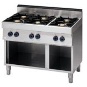 Saro 6 burner gas stove - 110x70x85cm