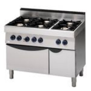 Saro Stove 6 Pits + Electric Oven | 400V | 1100x700x (H) 850mm