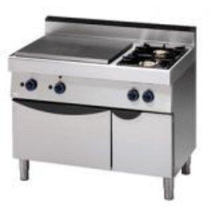 Saro Gasfornuis 2 Pits + Bakplaat + Oven | 1100x700x(H)850mm