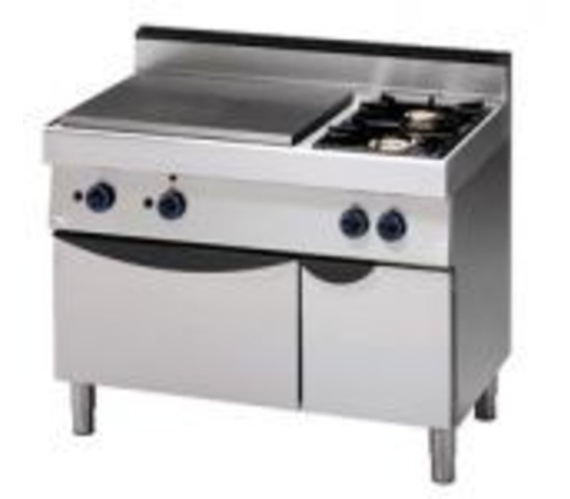 Saro Gas stove 2 Pits + tray + Oven | 1100x700x (H) 850mm