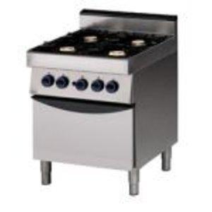 Saro 4 pits gasfornuis met oven gas - 70x70x85cm