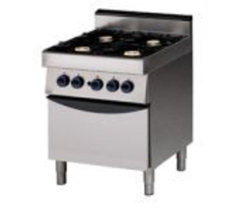 Saro 4 burner stove with oven gas - 70x70x85cm