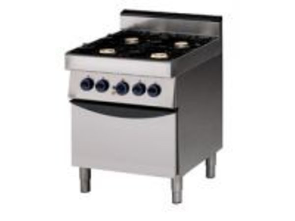 Saro Stove 4 Burners + Electric Oven | 400V | 700x700x (H) 850mm