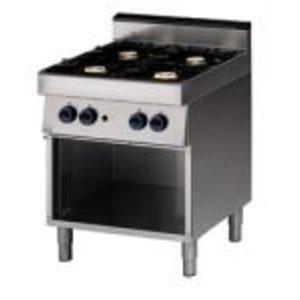 Saro 4 burner stove 70x70x85cm