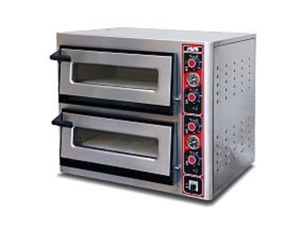 Saro Pizza Oven Electric Single | 2x 4 pizzas Ø30cm | 400V | 4,4kW | 890x710x (H) 440mm