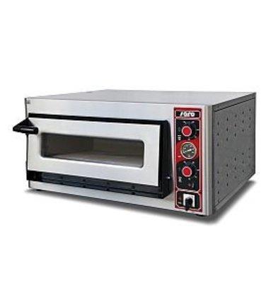 Saro Pizza Oven Elektrisch Enkel | 4 Pizza's Ø30cm | 400V | 4,4kW | 890x710x(H)440mm