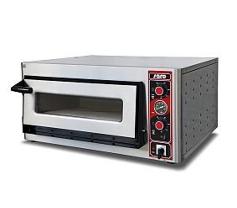 Saro Pizza Oven Electric Single | 4 pizzas Ø30cm | 400V | 4,4kW | 890x710x (H) 440mm