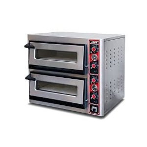 Saro Pizza-Ofen Doppel Electric | 2x 6 Pizzen | Ø30cm | 400V | 12kW | 890x1010x (H) 770mm