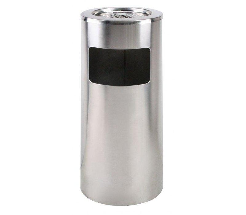 Saro Catering Abfallbehälter aus Edelstahl - mit Aschenbecher - 72 cm hoch