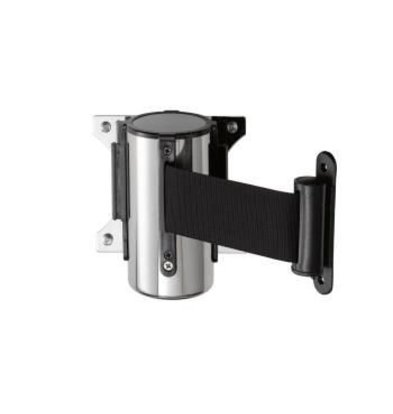 Saro Wall system barrier post Stainless Steel Black Basic