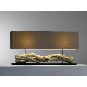 Saro Table Lamp Series Zenjoy | Model INOLA | Wood / Cotton | 40W | 1150x250x (H) 570mm