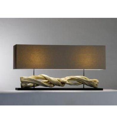 Saro Table Lamp Series Zenjoy   Model INOLA   Wood / Cotton   40W   1150x250x (H) 570mm