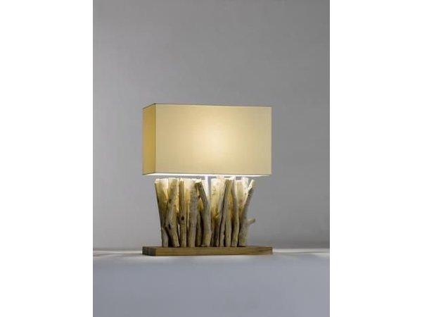 Saro Tafel Lamp Series Zenjoy   Model PACO   Hout/Katoen   40W   400x200x(H)495mm