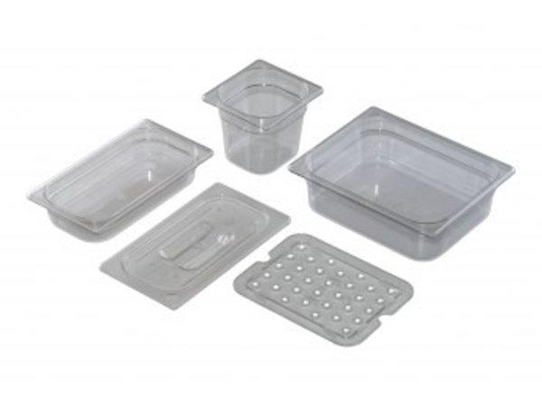 Saro GN 1/1 - D 100mm polycarbonate, transparent   325x530mm