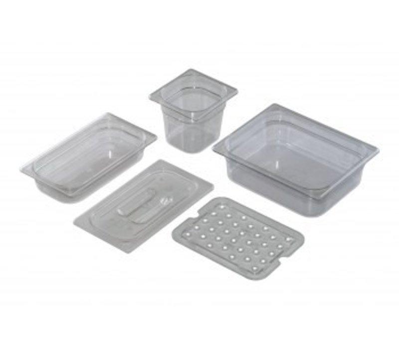 Saro GN 1/1, D 150mm polycarbonaat, transparant   325x530mm