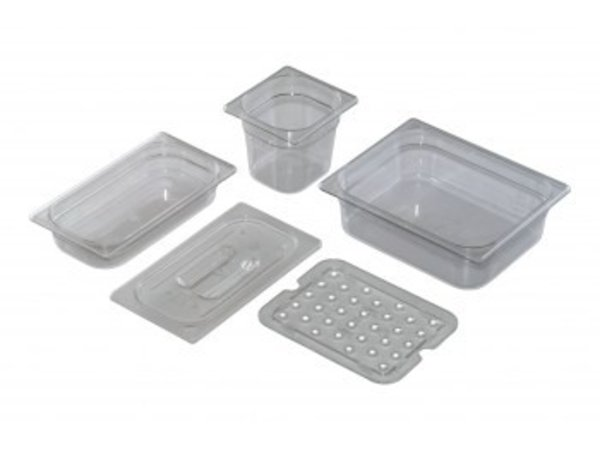 Saro GN 1/3 - D 100mm polycarbonate, transparent   325x176mm