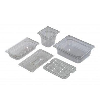 Saro GN 1/4 - D 100mm polycarbonaat, transparant |  265x162mm