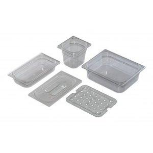 Saro GN 1/4 - D 200mm polycarbonaat, transparant    265x162mm