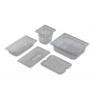 Saro GN 1/6 - D 150mm polycarbonaat, transparant | 176x162mm