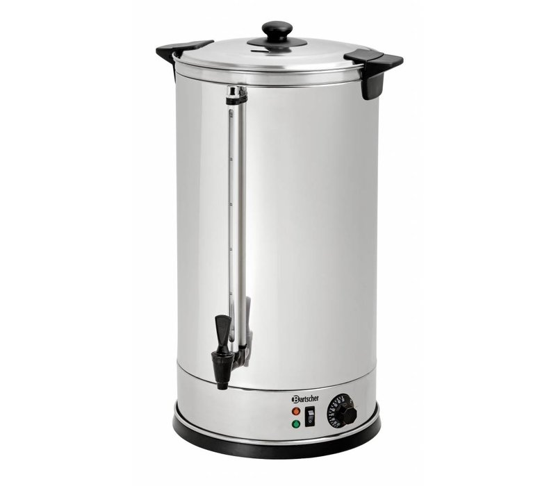 Bartscher Glühwein Edelstahl-Kessel / Heißwasserspender | Ø395 mm | Hahn | 28 Liter
