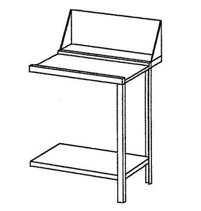 Bartscher Afvoertafel - 60 cm Rechts
