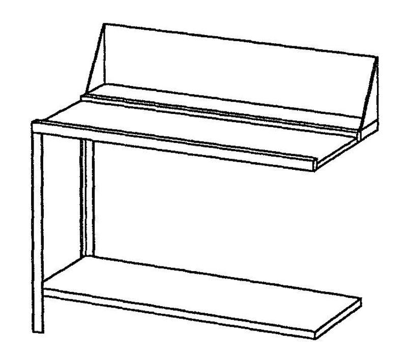 Bartscher Aan- of afvoertafel links