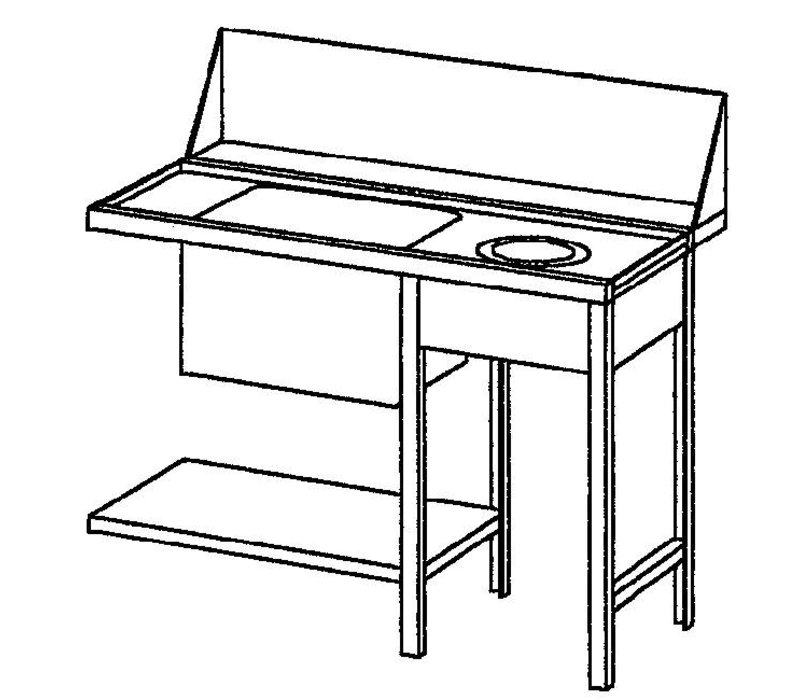 Bartscher Pre-clearing table, right