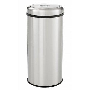 Bartscher Edelstahl-Abfallbehälter für die Hospitality - Kippdeckel - 75cm hoch - 50 Liter