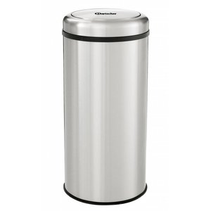 Bartscher Stainless steel waste bin for Hospitality - Tilting lid - 75cm high - 50 liters