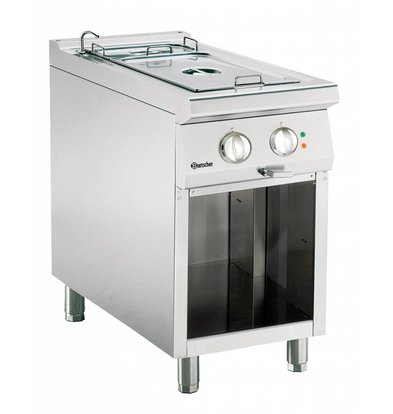 Bartscher Electric bain-marie | With Substructure Open | Series 900 | 1,8kW | 450x900x (H) 850-900mm