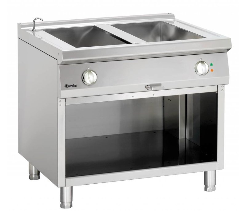Bartscher Electric bain-marie | With Substructure Open | Series 900 | 3,6kW | 900x900x (H) 850-900mm