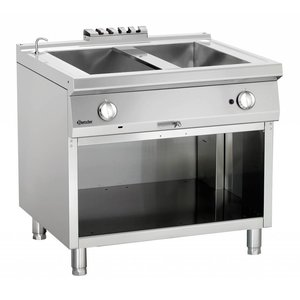 Bartscher Gas bain-marie | With Substructure Open | Series 900 | 900x900x (H) 850-900mm