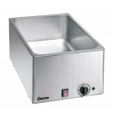 Bartscher Bain-Marie | Chrome-nickel steel | 1/1 GN | 150mm | 1,2kW | 338x540x (H) 248mm