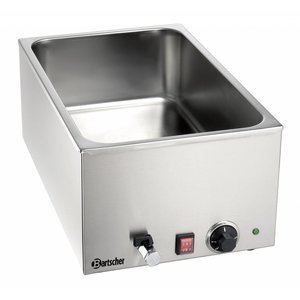Bartscher Bain Marie | 1/1 GN + drain valve | Chrome-nickel steel | 1200W | 340x590x (H) 240mm
