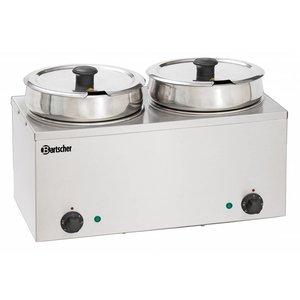 Bartscher Hotpot | Bain-Marie | RVS | 2x6,5 Liter | 505x280x(H)320mm