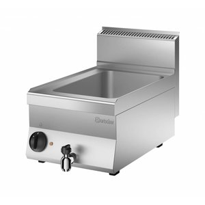 Bartscher Electric bain-marie | 1/1 GN | 150mm deep | With water drain valve | 400x650x (H) 295mm