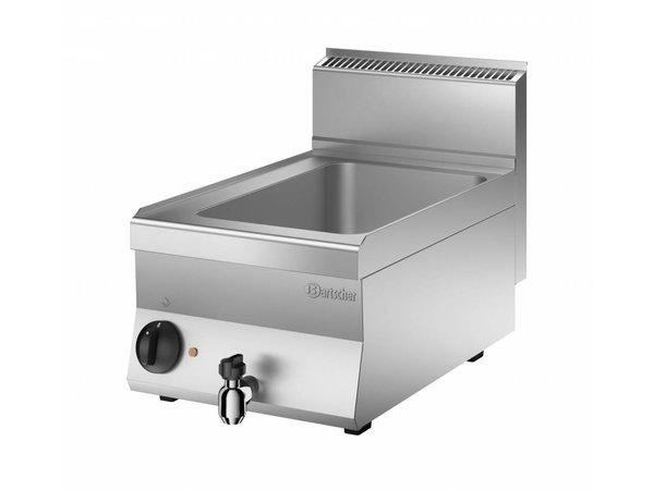Bartscher Elektro-Wasserbad | 1/1 GN | 150mm tiefen | Mit Wasserablassventil | 400x650x (H) 295mm