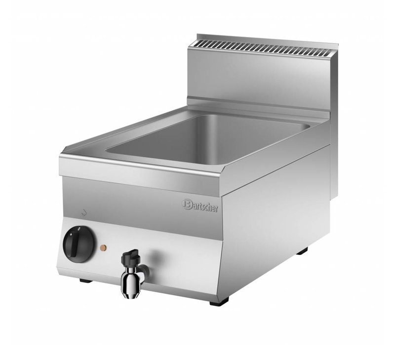 Bartscher Electric bain-marie   1/1 GN   150mm deep   With water drain valve   400x650x (H) 295mm