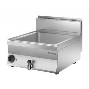 Bartscher Elektro-Wasserbad | 1 / 1GN + 2x1 / 4 GN | 150mm tiefen | 1,8kW | 600x650x (H) 295mm
