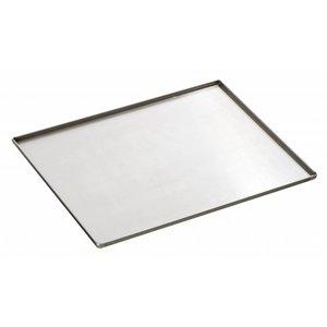 Bartscher Stainless steel baking pan | Bakery standard | 433x333x (H) 10mm