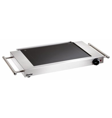 Bartscher Electric Griddle - Smooth - 64x36x (h) 6cm - 1,2kW