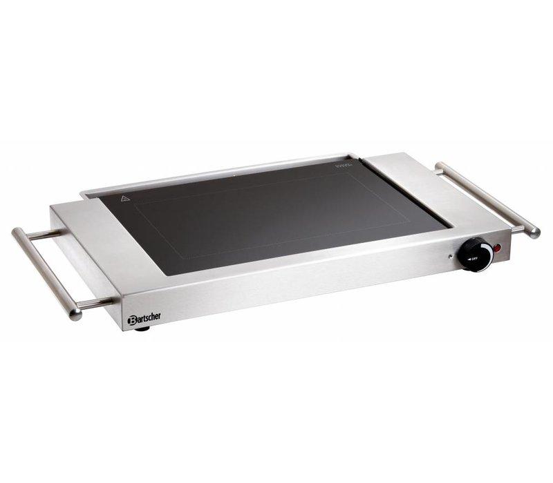 Bartscher Elektrische Kochplatte - Smooth - 64x36x (h) 6cm - 1,2kW