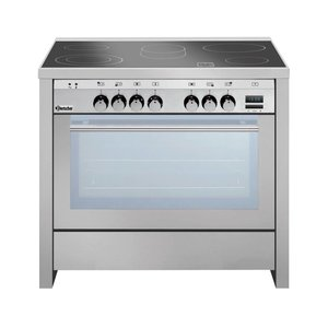 Bartscher Ceramic Cooker 5 zones + Multifunctional Oven + Grill | 400V | 11,4kW | 900x600x (H) 890-910 mm