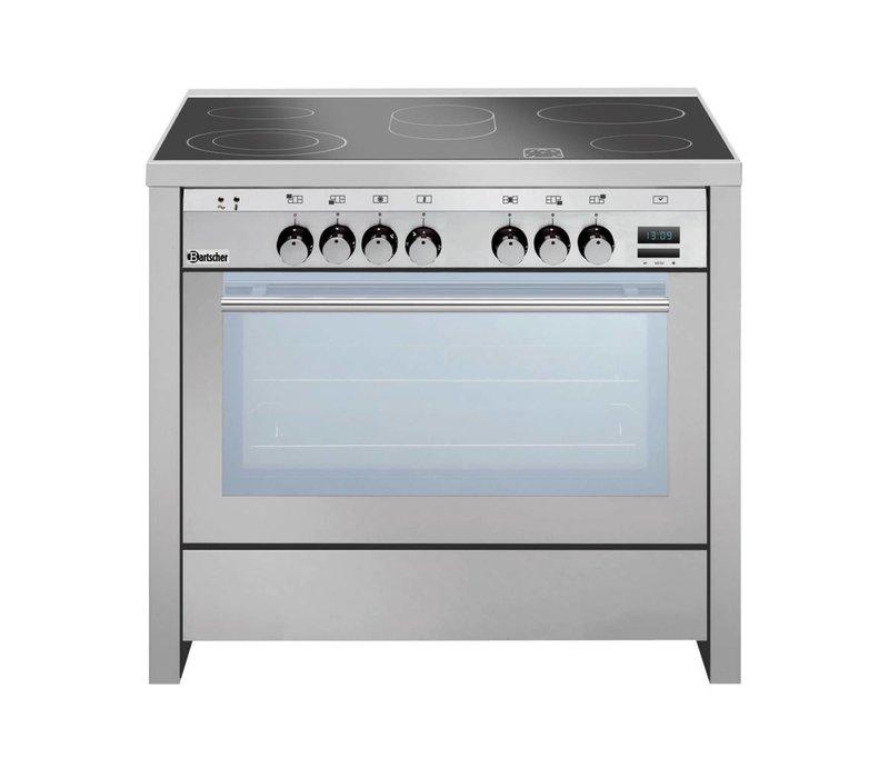 Bartscher Ceranfeld 5 Zonen + Multifunktions Ofen + Grill | 400V | 11,4kW | 900x600x (H) von 890 bis 910 mm