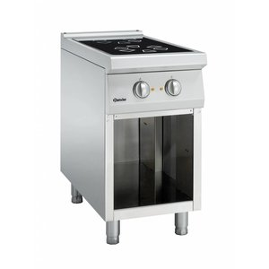 Bartscher Ceramic stove with two cooking zones and open base