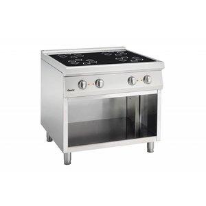 Bartscher Cerane stove, 4 heating zones with open base frame