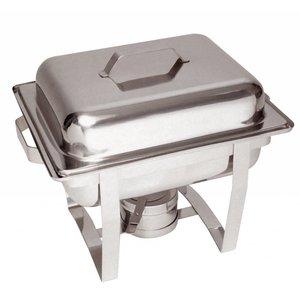 Bartscher MINI Chafing Dish   Chroomnikkelstaal   1/2 GN   65mm diep   375x290x(H)320mm